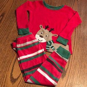 Carter's Reindeer pajamas set Size 24 months